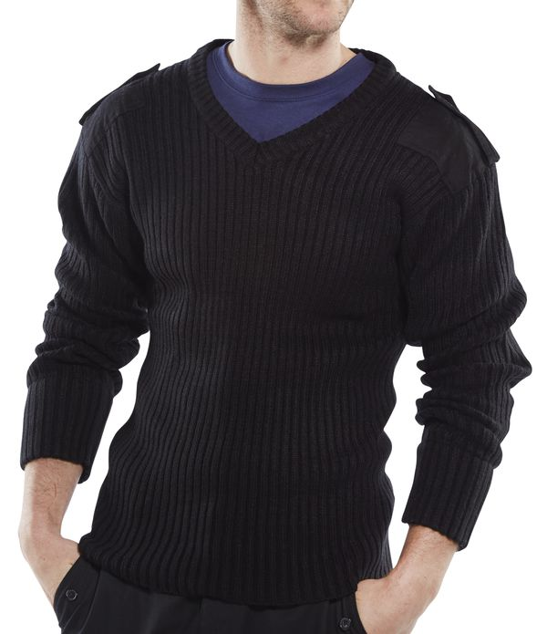ACRYLIC MOD V-NECK SWEATER - AMODVBL