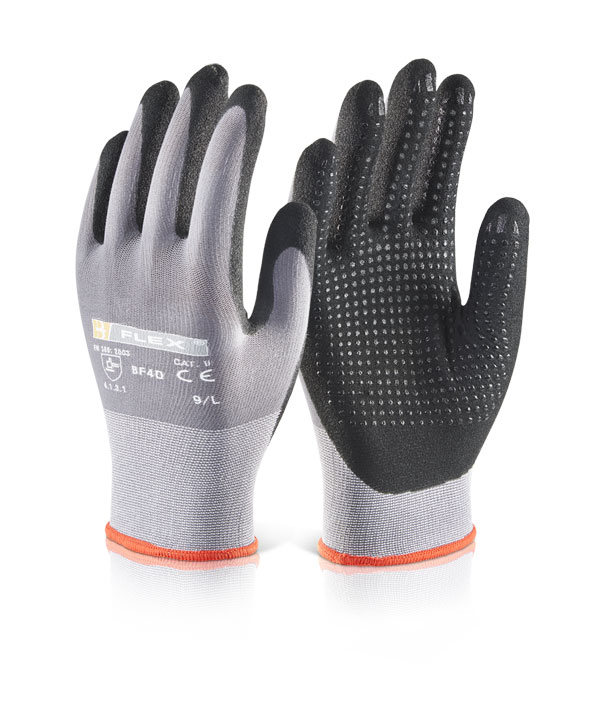 NITRILE PU MIX DOTTED GLOVE - BF4D