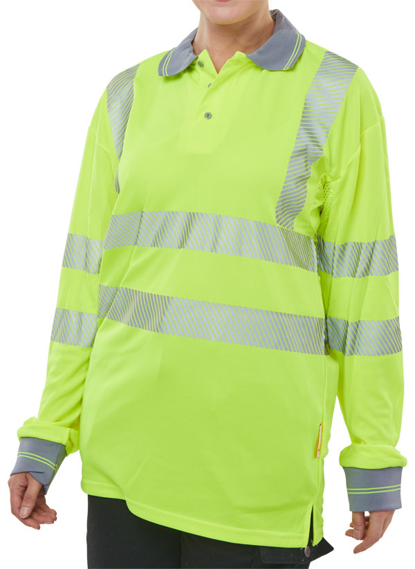 HIVIZ EXECUTIVE LONG SLEEVE POLO - BPKEXECLSSY