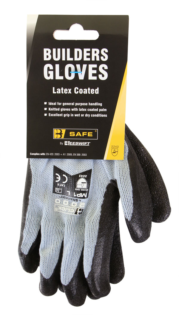 BUILDERS LATEX GLOVE - BS042BL