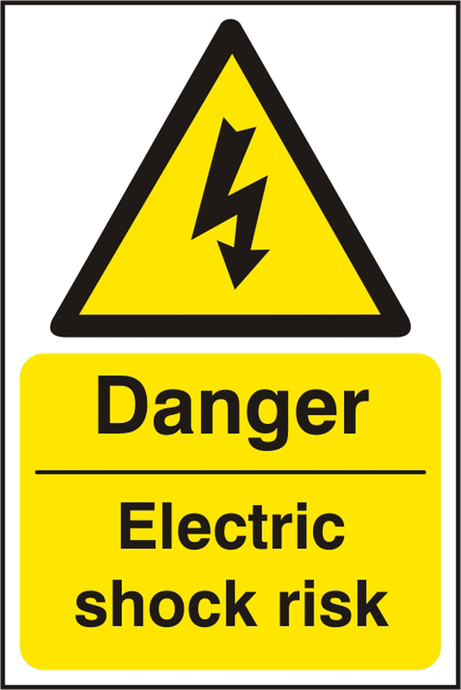 DANGER ELECTRIC SHOCK RISK SIGN - BSS11013