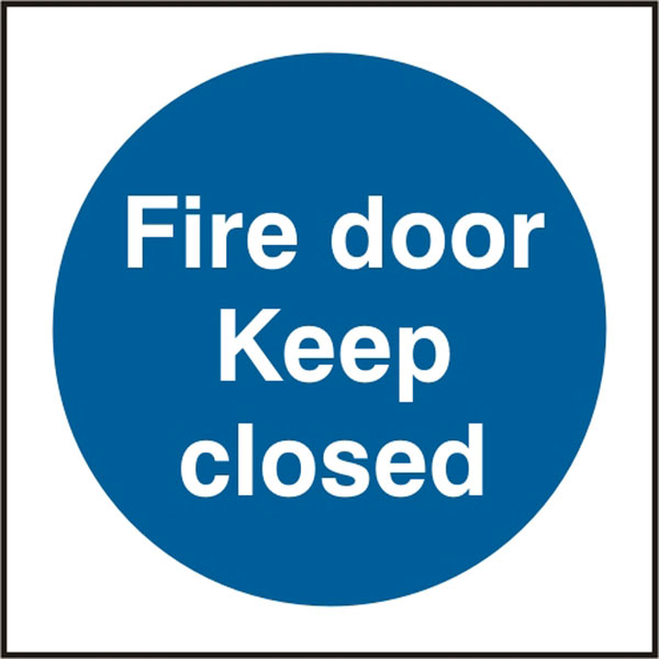 FIRE DOOR KEEP CLOSED SIGN - BSS11342