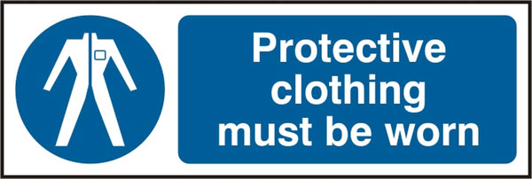 PROTECTIVE CLOTHING MUST BE WORN SIGN - BSS11381