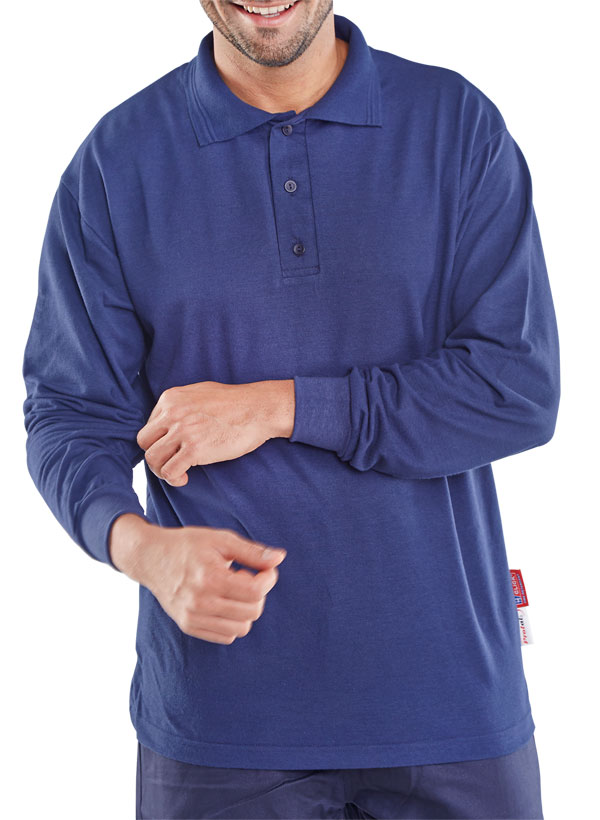 PROTEX FIRE RETARDANT POLO LONG SLEEVE - CFRPSLSN