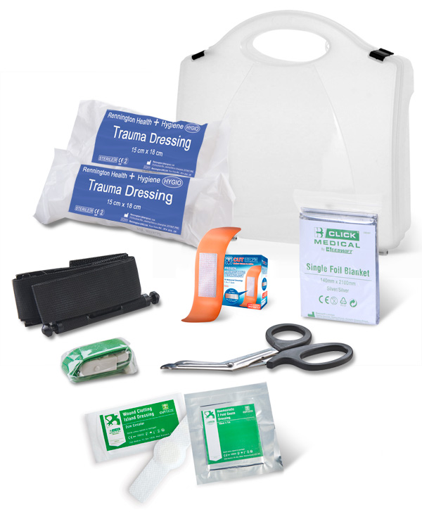 BS8599-1:2019 CRITICAL INJURY PACK MEDIUM RISK IN BOX - CM0082