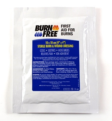 BURN FREE BURNS DRESSING 10 X 10CM - CM0332