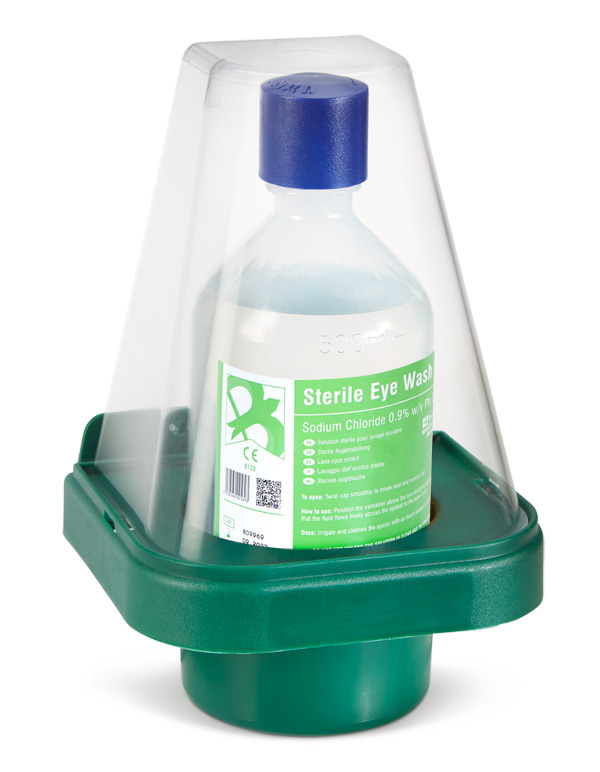 SINGLE EYEWASH BOTTLE WITH WALL MOUNT STAND - CM0701