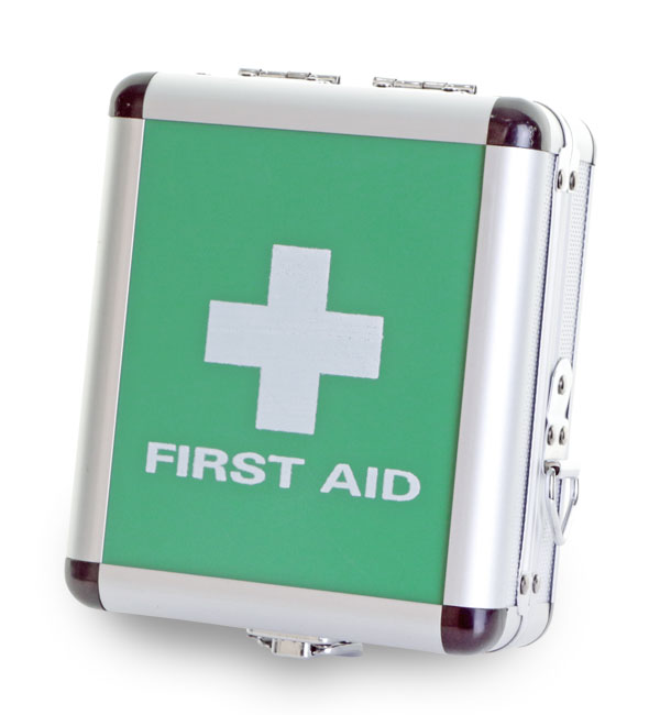 SMALL ALUMINIUM FIRST AID CASE - CM1015