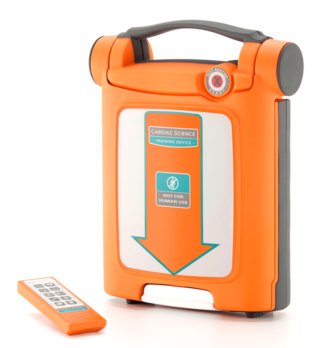 CARDIAC SCIENCE G5 DEFIBRILLATOR TRAINING UNIT + CPR DEVICE - CM1208