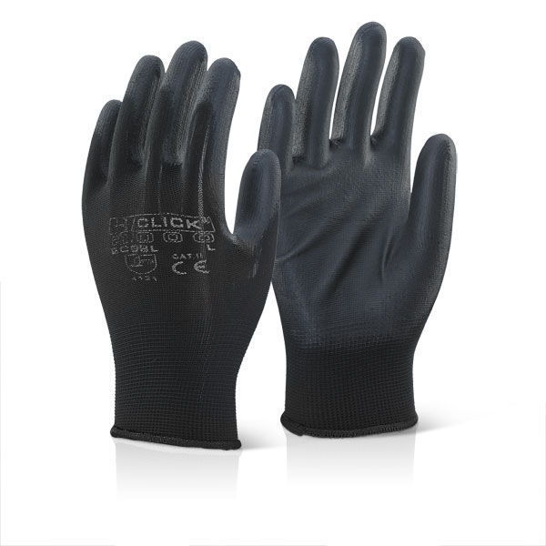 ECONOMY PU COATED GLOVES - EC9BL