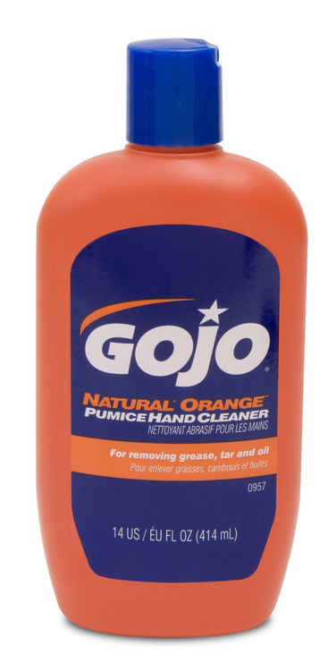 NATURAL ORANGE PUMICE HAND CLEANER GRIPPIT BOTTLE - GJ0957-12