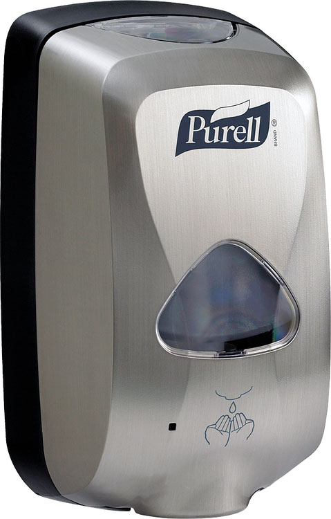TFX PURELL TOUCH FREE DISPENSER  METALLIC - GJ2790