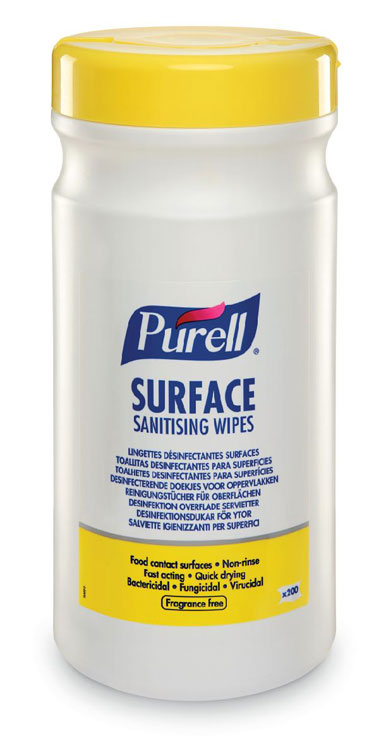 PURELL SURFACE SANITISING WIPES (TUB) CASE/6 - GJ95104-06