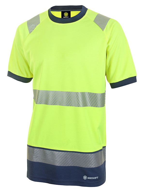 HIVIS TWO TONE SHORT SLEEVE T SHIRT - HVTT001