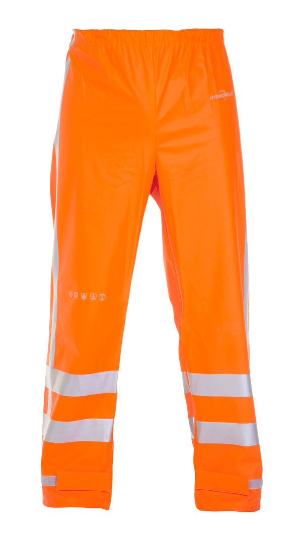 NAGOYA MULTI HYDROSOFT FLAME RETARDANT ANTI-STATIC HIGH VISIBILITY WATERPROOF TROUSERS - HYD064064OR