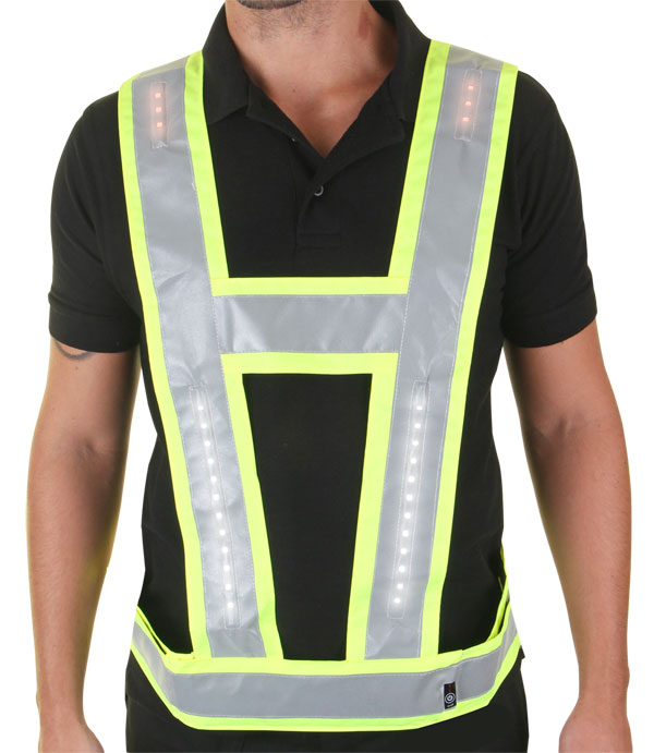 HARNESS WITH RED LIGHTS SHOULDER AND BACK - LVH009