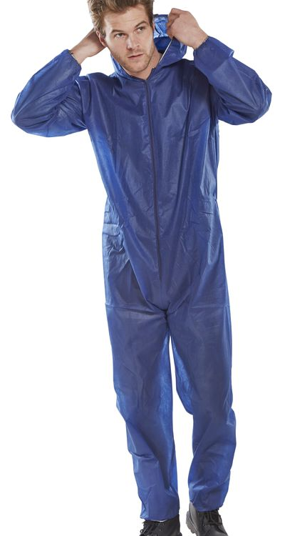 POLY PROP DISPOSABLE BOILERSUIT - PDBSHN