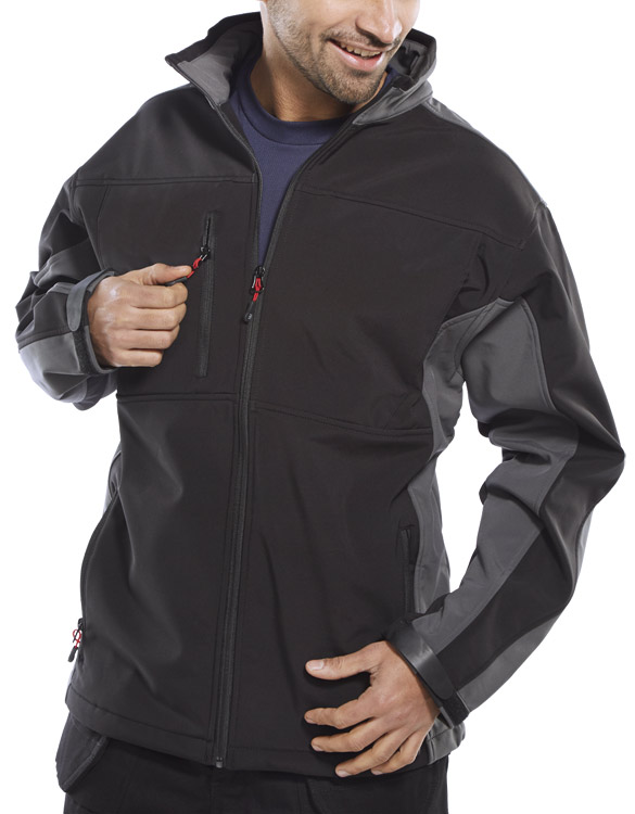 TWO TONE SOFT SHELL JACKET - SSJTT