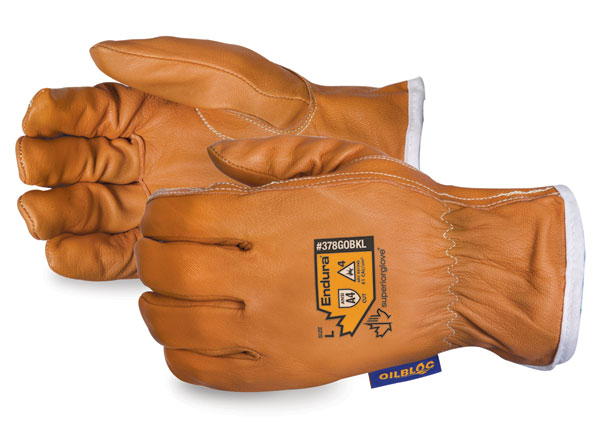 ENDURA KEVLAR LINED ARC FLASH DRIVERS GLOVE - SU378GOBKL