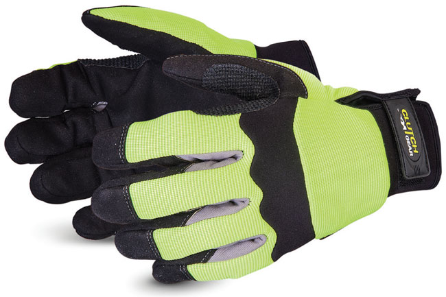 CLUTCH GEAR® HI-VIZ MECHANICS GLOVE WITH PUNKBAN  - SUMXHV2PB