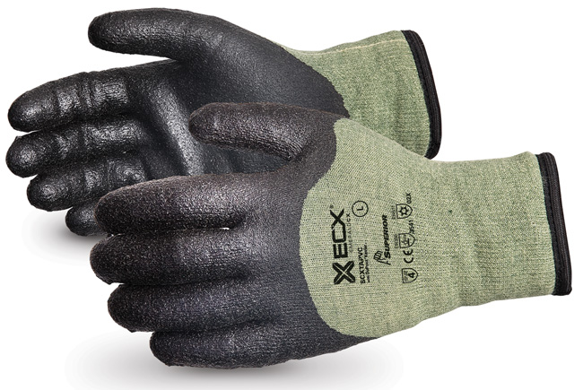 EMERALD CX® KEVLAR®/STEEL WINTER GLOVE WITH PVC PALM - SUSCXTAPVC