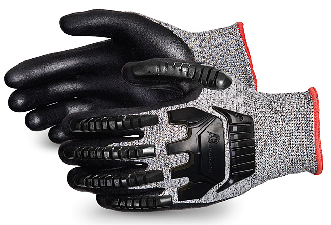TENACTIV CUT-RESISTANT COMPOSITE KNIT GLOVE WITH FOAM NITRILE PALMS - SUSTAFGFNVB