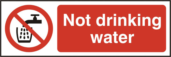 NOT DRINKING WATER SIGN - BSS11676